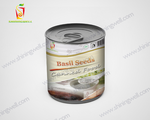 canned food basil seed for bubble tea